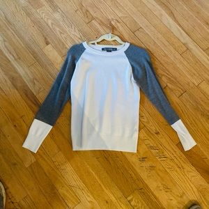 LN French Connection White Colorblock Fitted Swe S